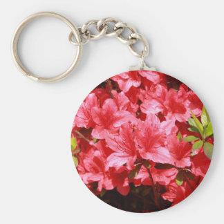 azalea red flowers keychain