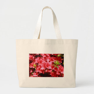 azalea red flowers large tote bag