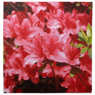 azalea red flowers napkin