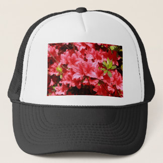 azalea red flowers trucker hat