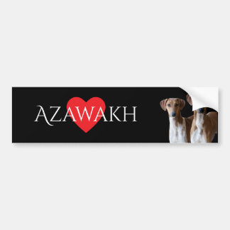 Azawakh Breed Bumper Sticker