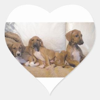 Azawakh Puppies Heart Sticker
