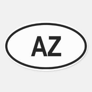 """Azerbaijan """"AZ"""" Stickers"""