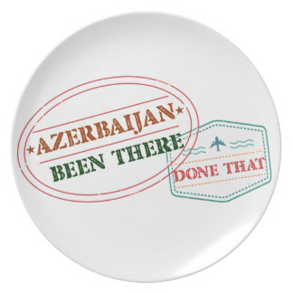 Azerbaijan Been There Done That Plate