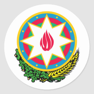 Azerbaijan Coat Of Arms Classic Round Sticker
