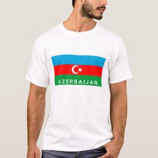 azerbaijan country flag symbol name text T-Shirt