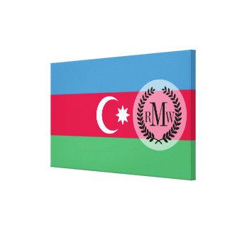 Azerbaijan Flag Canvas Print