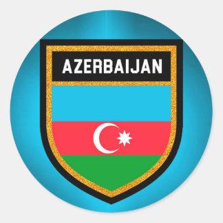 Azerbaijan Flag Classic Round Sticker