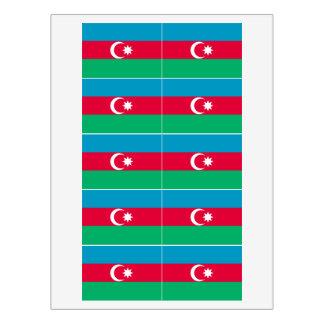 Azerbaijan Flag Food Label