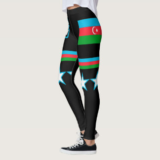 Azerbaijan Flag Leggings