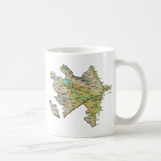 Azerbaijan Flag ~ Map Mug