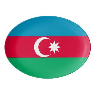 Azerbaijan Flag Porcelain Serving Platter