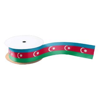 Azerbaijan Flag Satin Ribbon