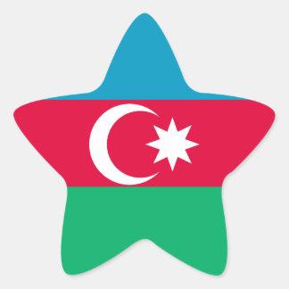Azerbaijan Flag Star Sticker