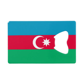 Azerbaijan Flag Wallet Bottle Opener