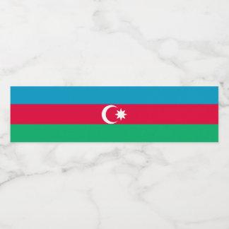Azerbaijan Flag Water Bottle Label