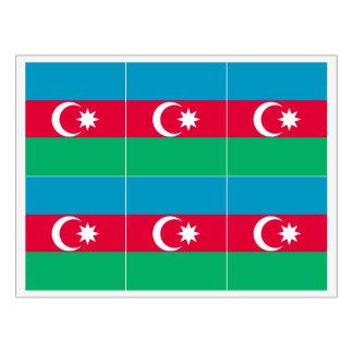 Azerbaijan Flag Wine Label