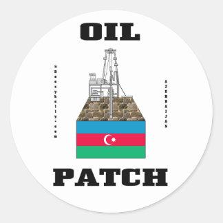 Azerbaijan Oil Patch,Oilfield Sticker,Oil,Gas,Oil Classic Round Sticker