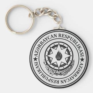 Azerbaijan  Round Emblem Basic Round Button Keychain