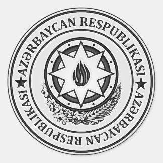 Azerbaijan  Round Emblem Classic Round Sticker