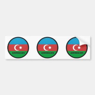 Azerbaijan Roundel quality Flag Bumper Sticker