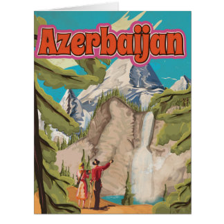 Azerbaijan Vintage Travel Poster Card