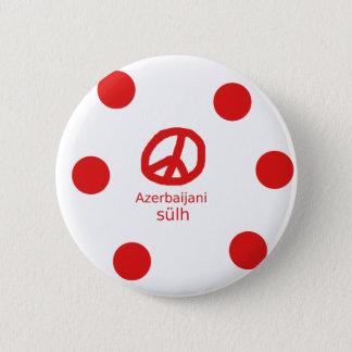 Azerbaijani Language And Peace Symbol Design 2 Inch Round Button
