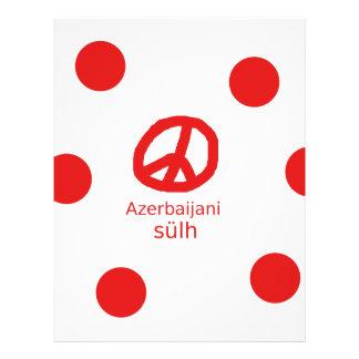 Azerbaijani Language And Peace Symbol Design Letterhead