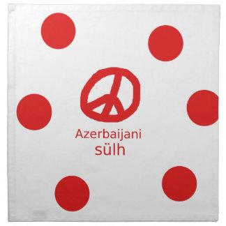 Azerbaijani Language And Peace Symbol Design Napkin
