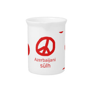 Azerbaijani Language And Peace Symbol Design Pitcher