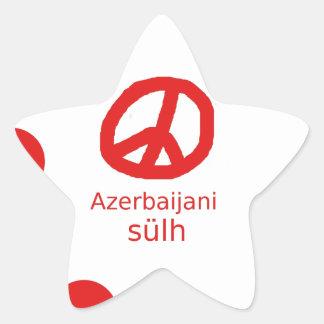 Azerbaijani Language And Peace Symbol Design Star Sticker