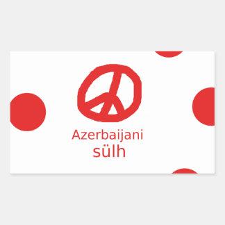 Azerbaijani Language And Peace Symbol Design Sticker
