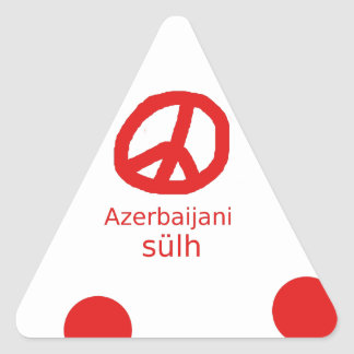 Azerbaijani Language And Peace Symbol Design Triangle Sticker