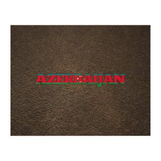 Azerbaijani name and flag cork fabric