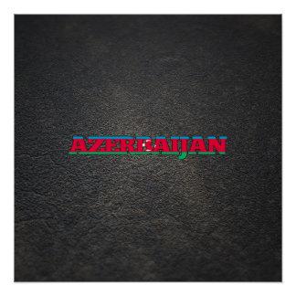 Azerbaijani name and flag perfect poster