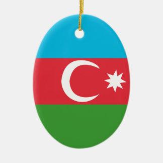 Azerbaijao Ceramic Oval Ornament