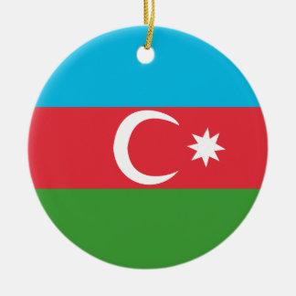 Azerbaijao Round Ceramic Ornament