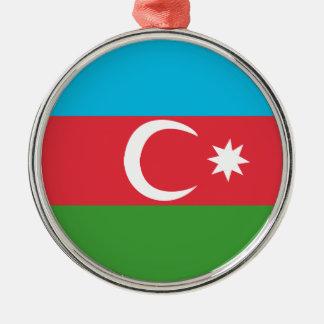 Azerbaijao Silver-Colored Round Ornament