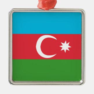 Azerbaijao Silver-Colored Square Ornament