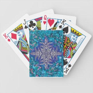 AZIBO105 Mandala Ink Painted Poker Deck