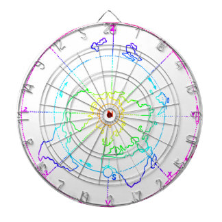 Azimuthal Equidistant Map Zetetic Dartboard
