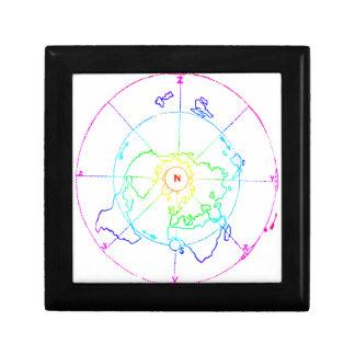 Azimuthal Equidistant Map Zetetic Gift Box