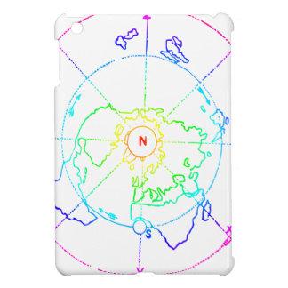 Azimuthal Equidistant Map Zetetic iPad Mini Cases