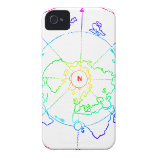 Azimuthal Equidistant Map Zetetic iPhone 4 Case-Mate Case