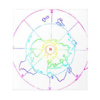 Azimuthal Equidistant Map Zetetic Notepads