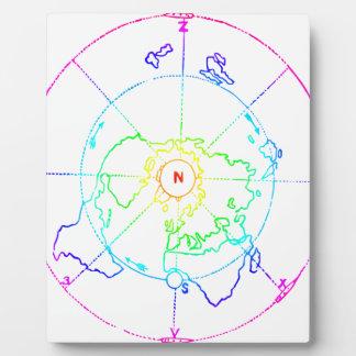 Azimuthal Equidistant Map Zetetic Plaque
