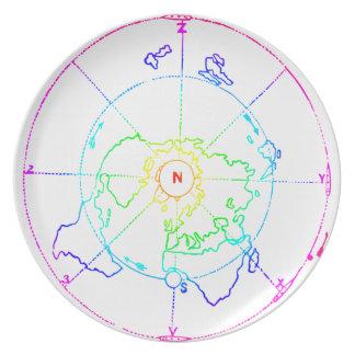 Azimuthal Equidistant Map Zetetic Plate