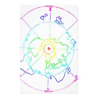 Azimuthal Equidistant Map Zetetic Stationery