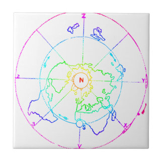 Azimuthal Equidistant Map Zetetic Tile