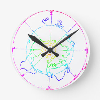 Azimuthal Equidistant Map Zetetic Wall Clocks